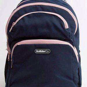 Hollister Logo Backpack (Dark Blue)